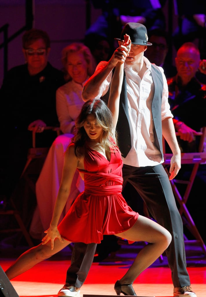 Channing Tatum and Jenna Dewan put on a sexy show for the Revlon Concert for the Rainforest Fund at Carnegie Hall in NYC.
