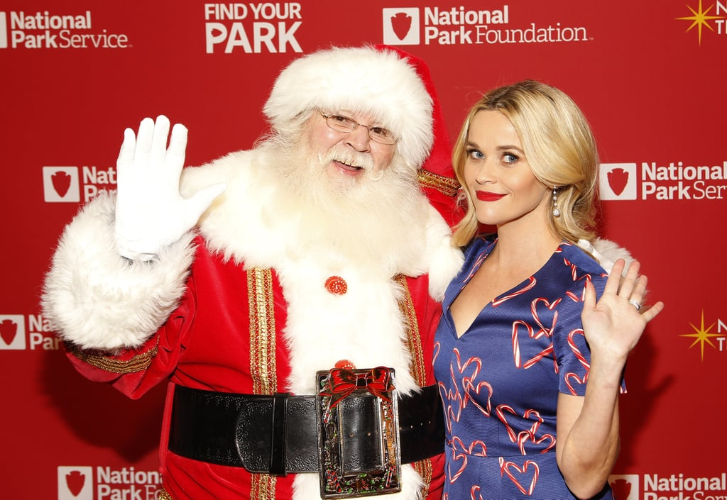 Reese Witherspoon and Obamas Light the National Tree 2015