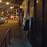 Jessica Hart sported a sleek street-style look while heading to dinner. Source: Instagram user 1jessicahart