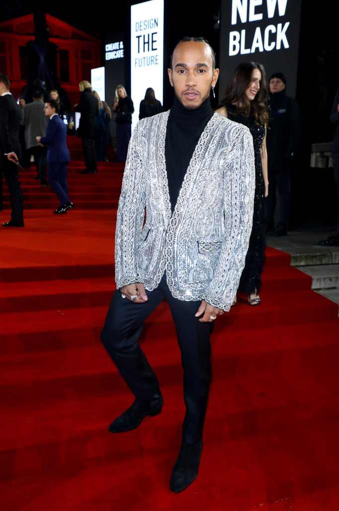 Lewis Hamilton at the British Fashion Awards 2019 in London