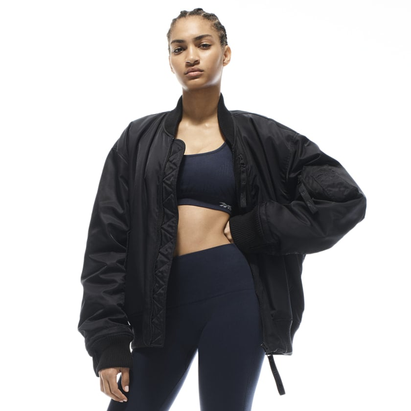 Reebok x VB Oversized Bomber Jacket — Black