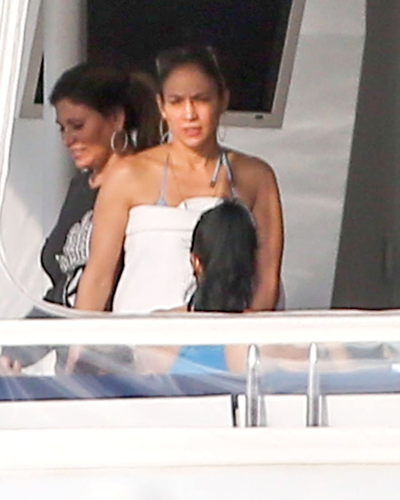 J Lo Works a Bikini During a Family Trip to Miami