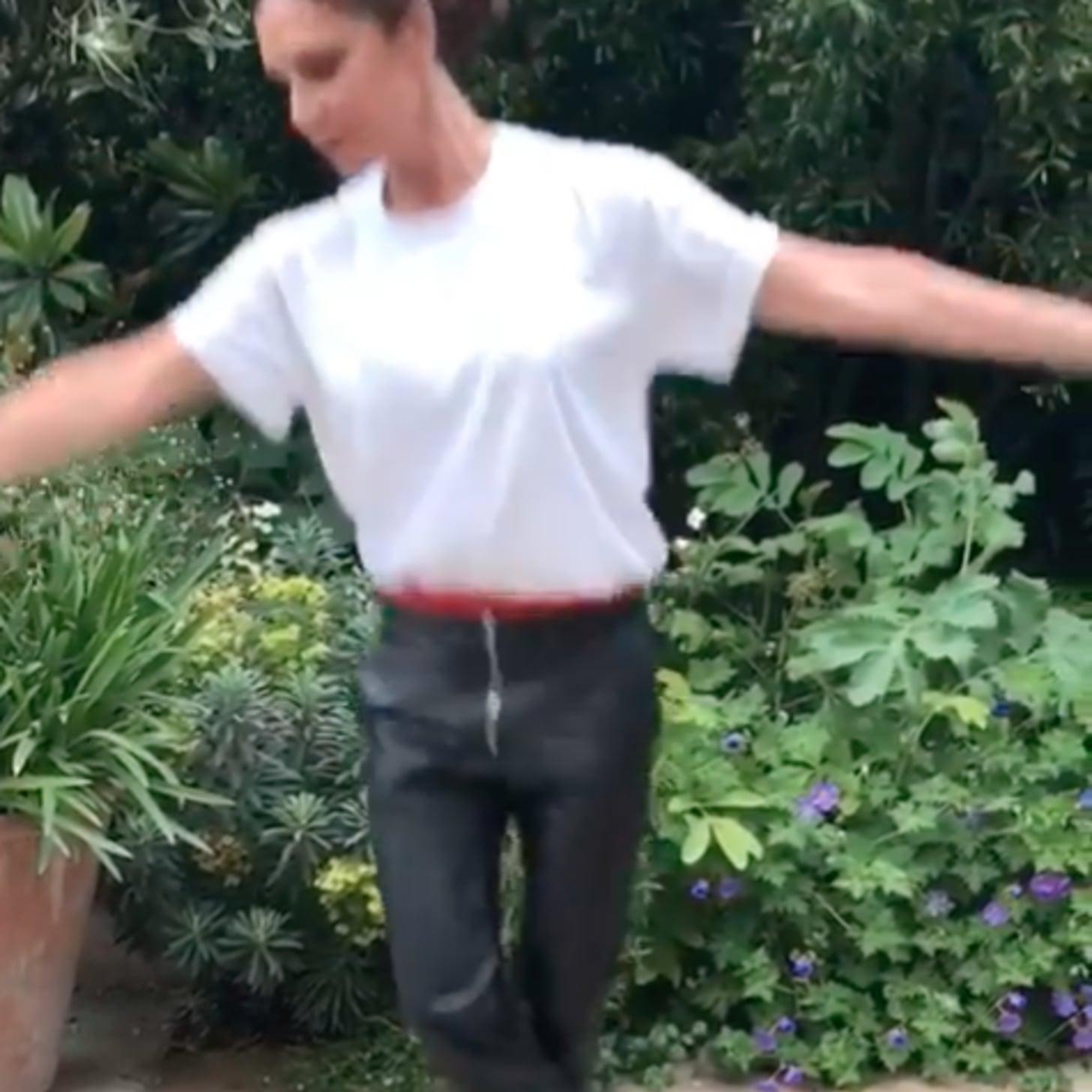 0bad57c618 Victoria Beckham Doing Ballet Instagram Video | POPSUGAR Celebrity