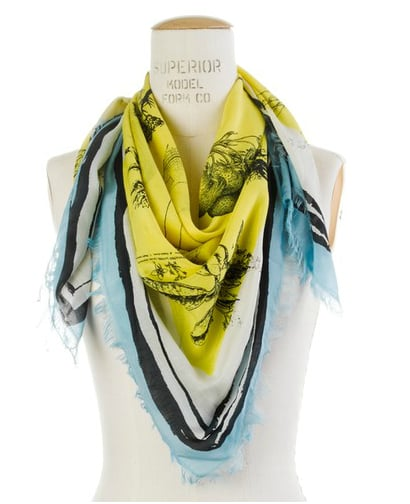 Accent a neutral outfit with a cool digital-printed scarf. Madewell Nature Study Storyteller Scarf ($55)