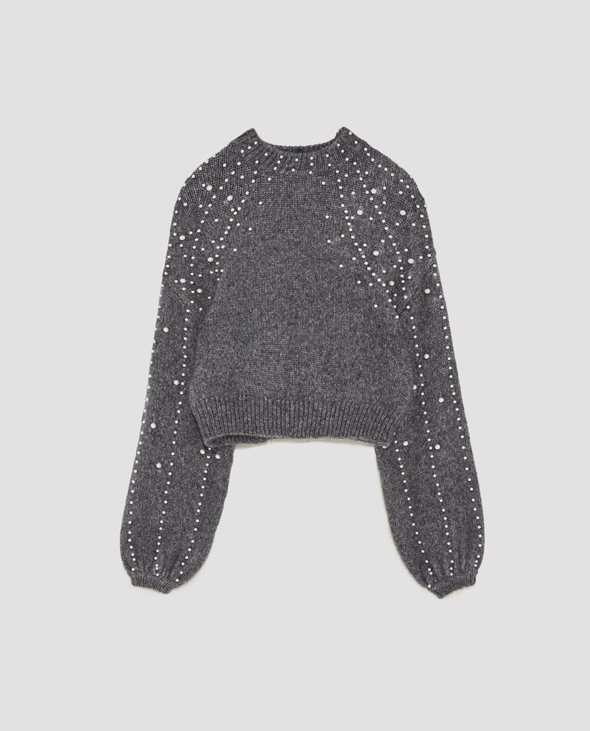 Zara Cropped Sweater | Affordable Sweaters For Fall | POPSUGAR ...
