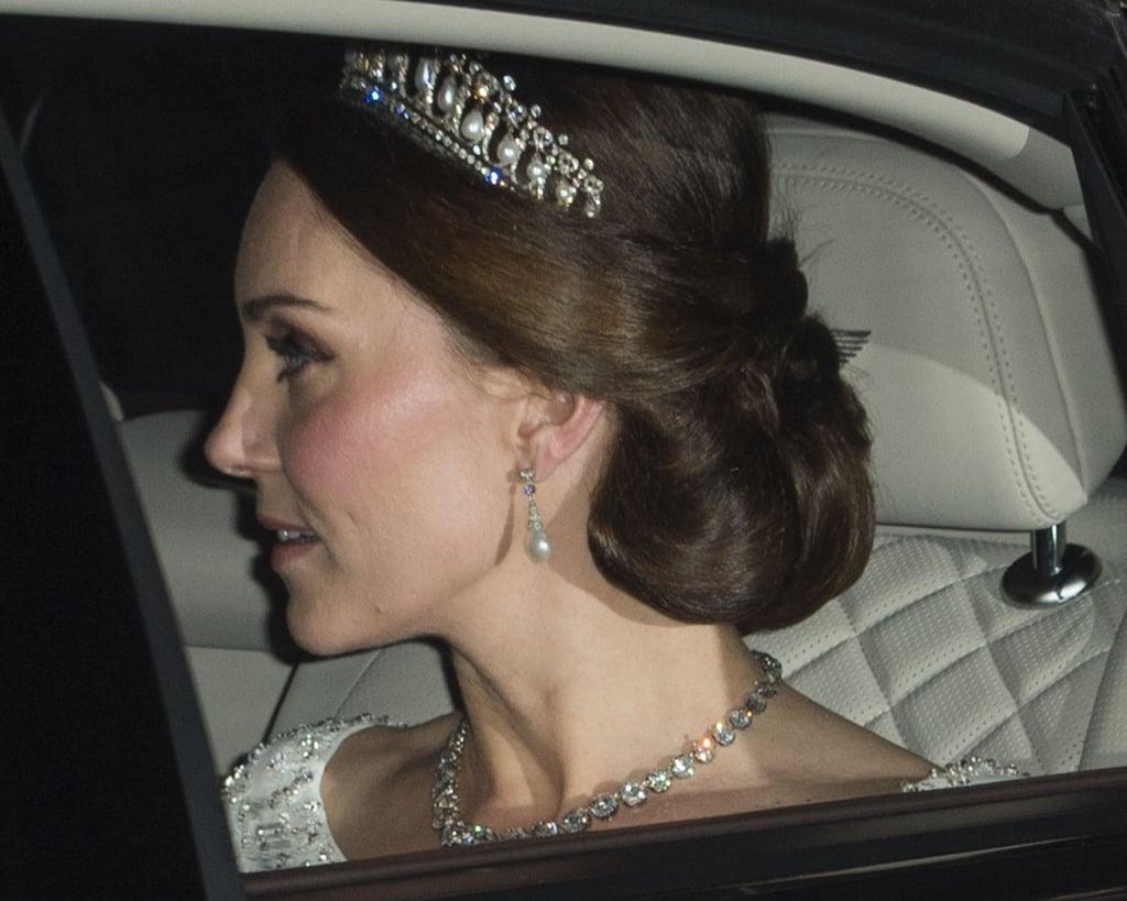 Kate Middleton Wearing Princess Diana's Tiara 2017