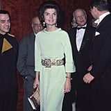 And the Belt Instantly Reminded Us of the One Jackie Kennedy Wore While Attending the Opera Back in 1967