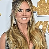 Heidi Klum With Blond Hair With Platinum Highlights and Dark Roots