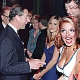 Prince Charles, Liz Dawn, Jennifer Aniston, Stephen Fry, and Geri Halliwell