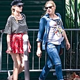 Diane Kruger looked cute and stylish with a side braid.