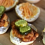 Fried Chicken Biscuit Sandwiches With Sriracha-Honey Butter