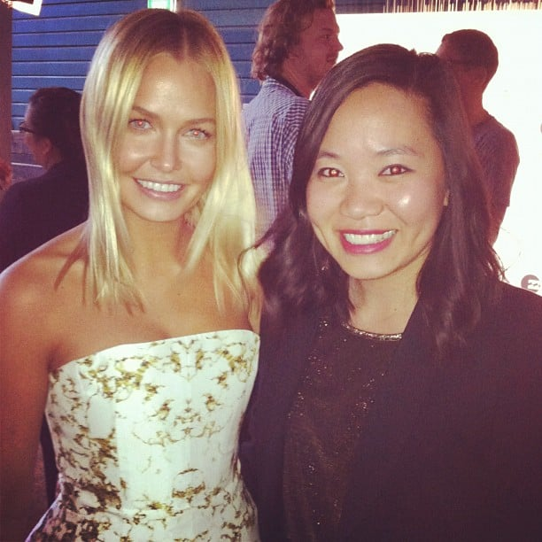 Jess bumped into model — and CLEO cover girl — Lara Bingle at the magazine's annual Swim Party.