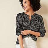 Old Navy Loose Floral-Print Button-Front Blouse