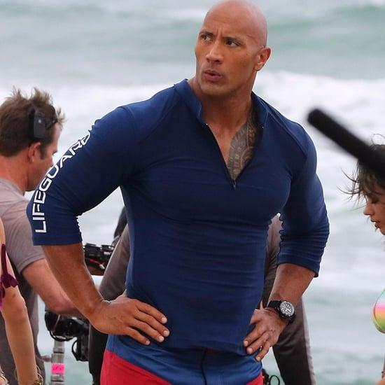 Dwayne Johnson Baywatch Movie Set Pictures