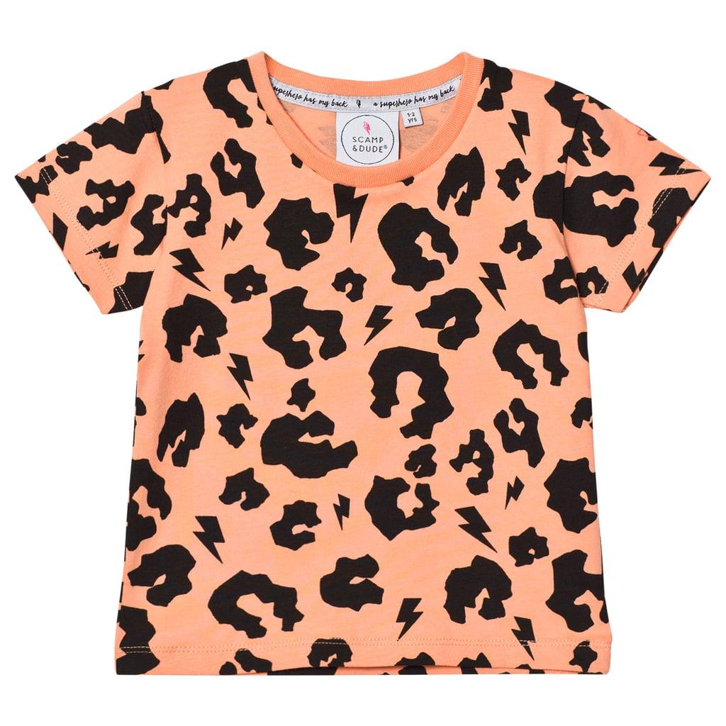 AlexandAlexa Scamp & Dude Orange Leopard Print Tee