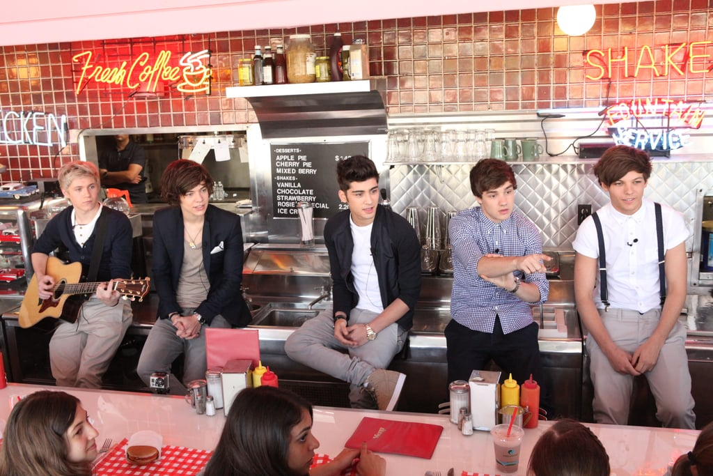 One Direction at a VEVO Go Show in LA in 2012