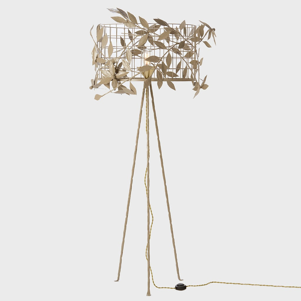 Gold branches and a wire cage shade give the terrain akebia floor gold branches and a wire cage shade give the terrain akebia floor lamp 998 greentooth Gallery