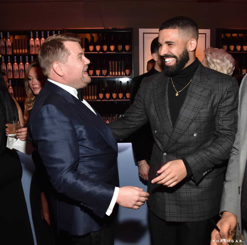 Pictured: James Corden and Drake