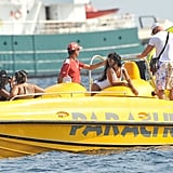 Rihanna was out on the sea in Cannes.