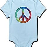 CafePress Tie Dye Rainbow Peace Sign Infant Bodysuit