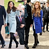 In an Eye-Catching Blue Coat