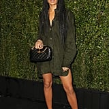 Zoë Kravitz showed off her stems at the Chanel and Charles Finch dinner at Madeo.