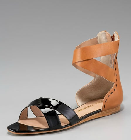 The slick patent detailing means this comfy pair can go from day to night.  Pour la Victoire Fabia Patent-Matte Leather Sandal ($225)