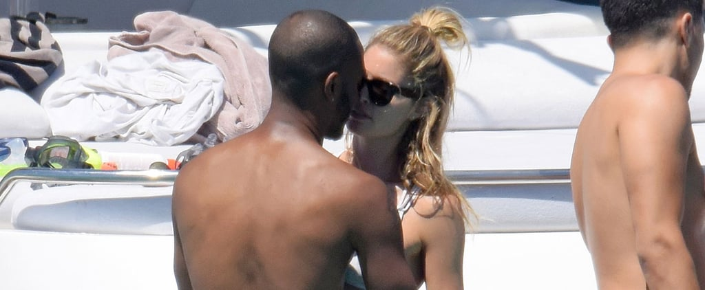 Doutzen Kroes and Husband Kissing on Yacht July 2016