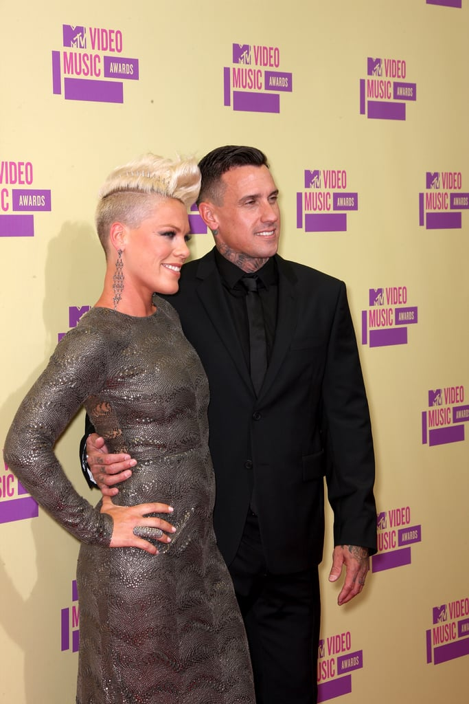 Pink and Carey Hart smiled for the cameras.