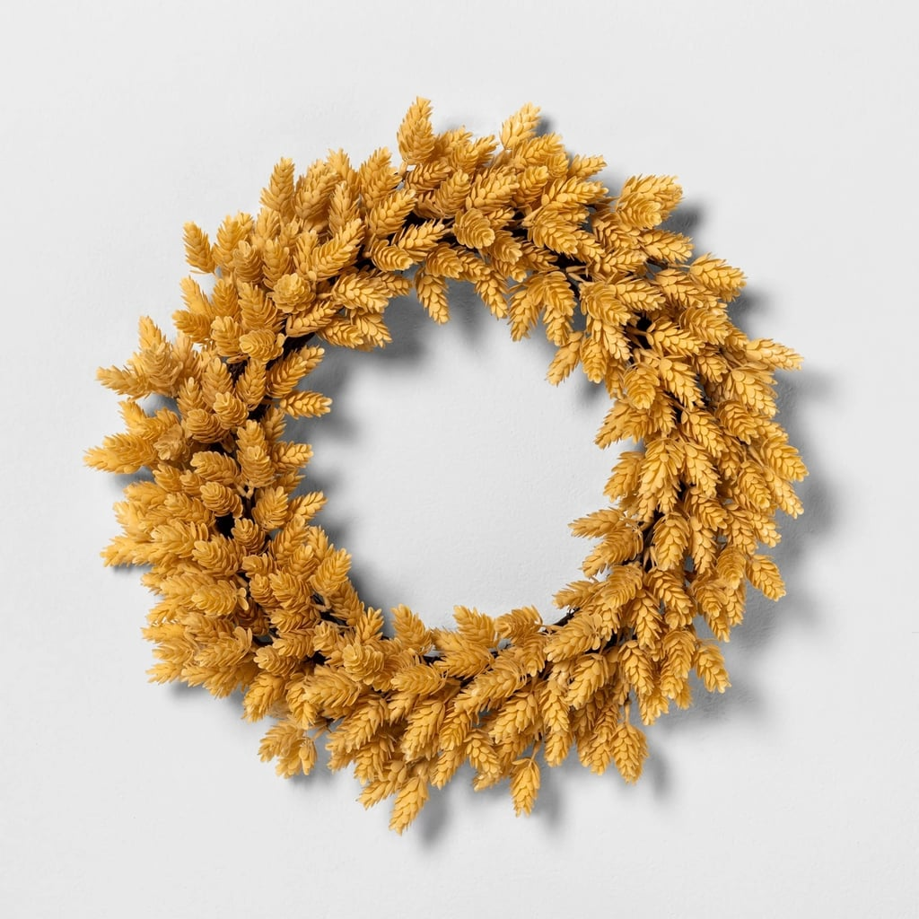 Faux Yellow Hops Wreath