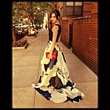 Emmy Rossum wore a gorgeous Carolina Herrera gown for an event in NYC. Source: Instagram user emmyrossum