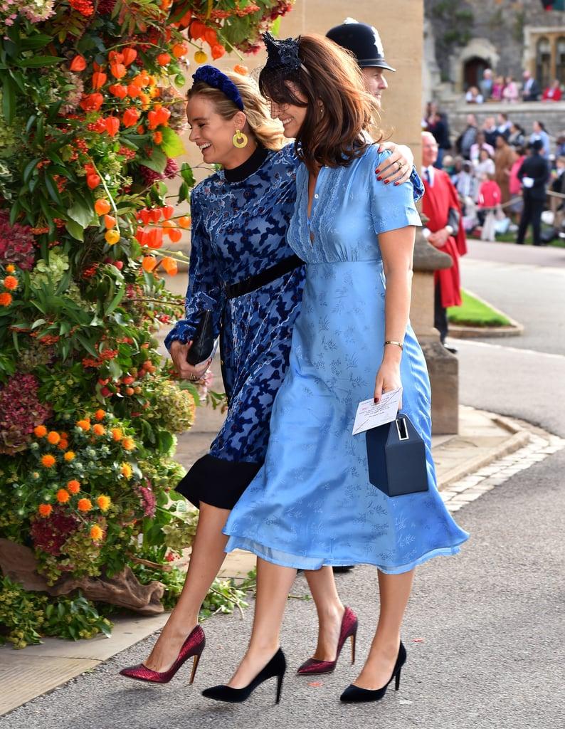 Chelsy Davy and Cressida Bonas at Princess Eugenie's Wedding