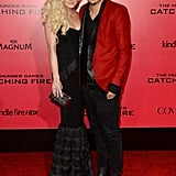 Ashlee Simpson supported her boyfriend Evan Ross, who has a role in Mockingjay.