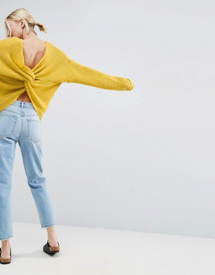 ASOS Chunky Twist-Back Sweater