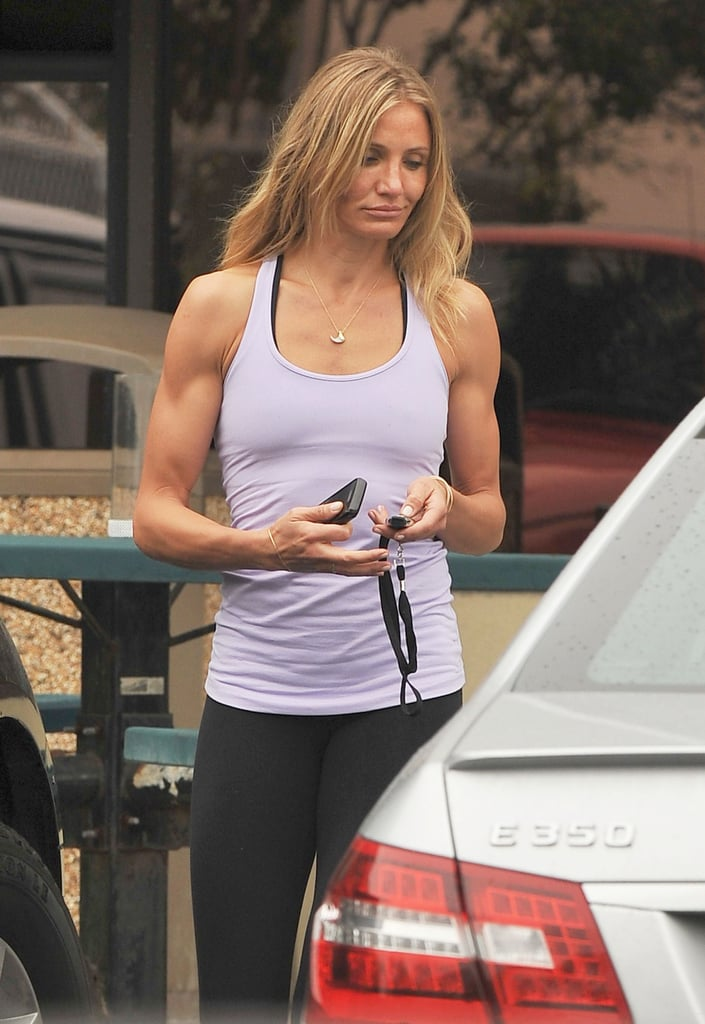 Cameron Diaz hit the gym in Venice Beach yesterday with her boyfriend Alex Rodriguez. She and Alex have been all about their jet-setting so far in 2011, but then seem to make time for exercise no matter where they're located — they tossed around a few tires while in Miami recently, and also went canoeing while in Hawaii. The couple was last in the Dominican Republic for a weekend  baseball event, but they were soon out on the West Coast to keep the PDA coming on Valentine's Day.