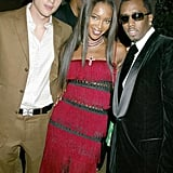 Ashton Kutcher, Naomi Campbell, and Diddy — 2003