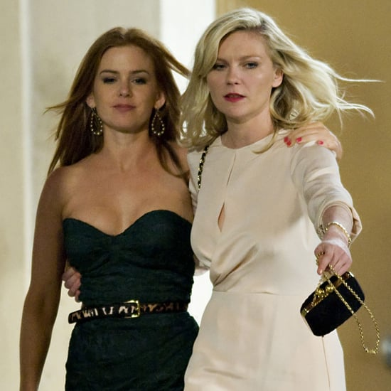 Kirsten Dunst and Isla Fisher on Bachelorette Set Pictures