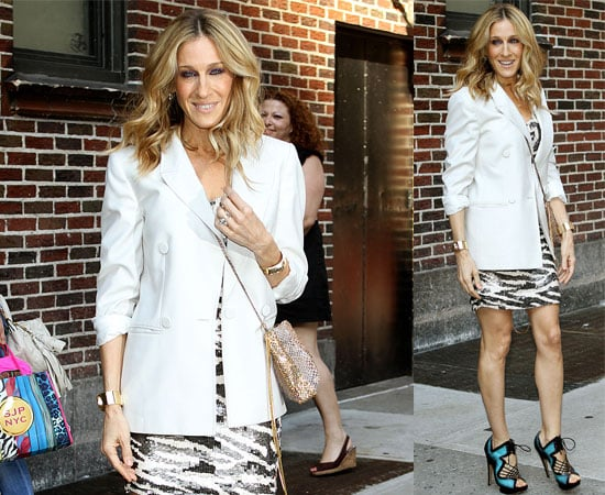 Pictures of Sarah Jessica Parker at David Letterman Show for SATC2