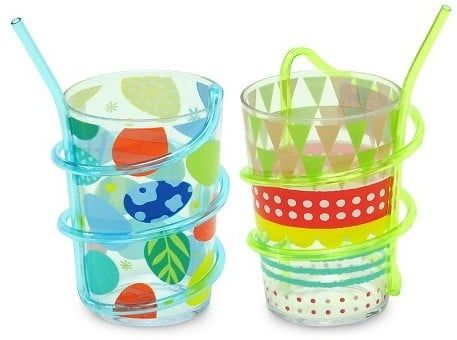 Pack of 2 Swirly Straw Cups