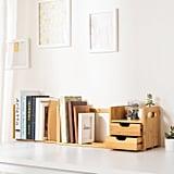 Ollieroo Natural Bamboo Desk Organiser