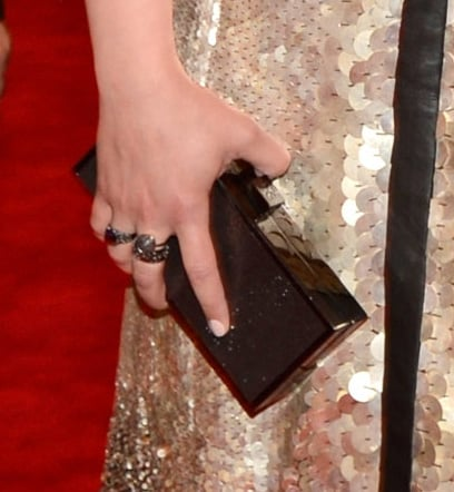 Ginnifer Goodwin carried a Tory Burch clutch.