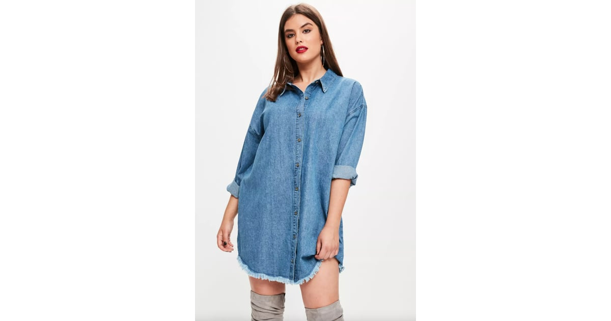 927401e12fa Missguided Plus Size Oversized Denim Shirt Dress
