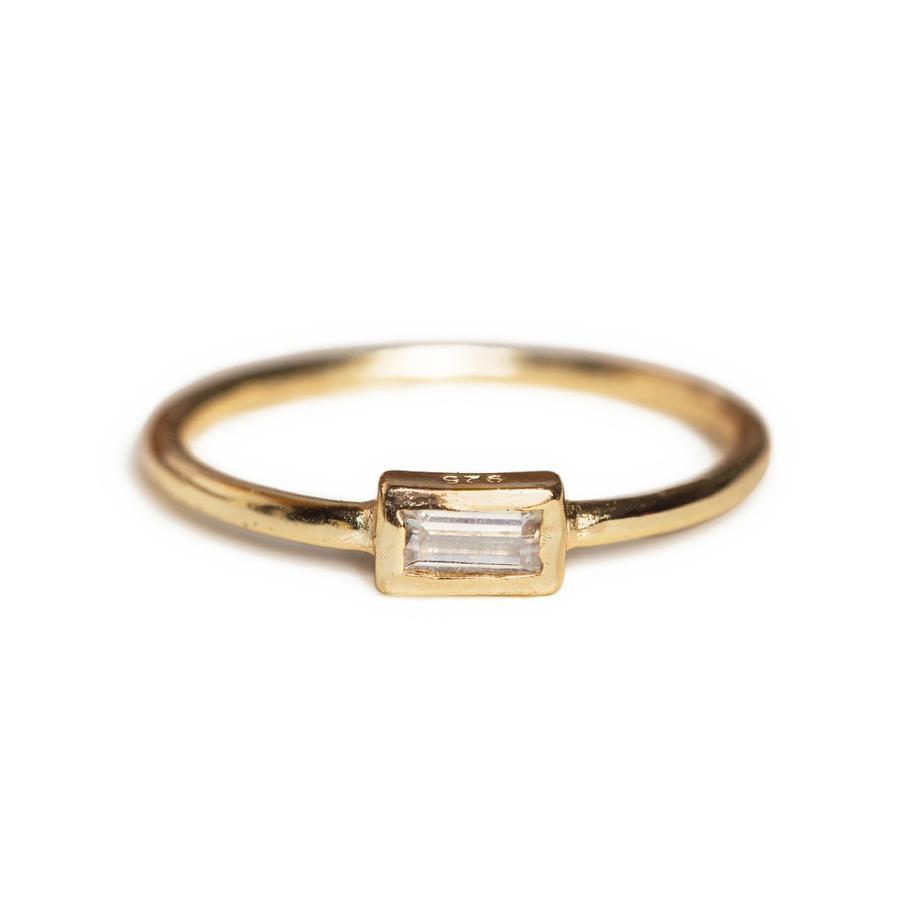 Amyo Jewelry Baguette Bezel Ring