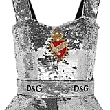 Dolce & Gabbana Sequined Tulle Bustier Top