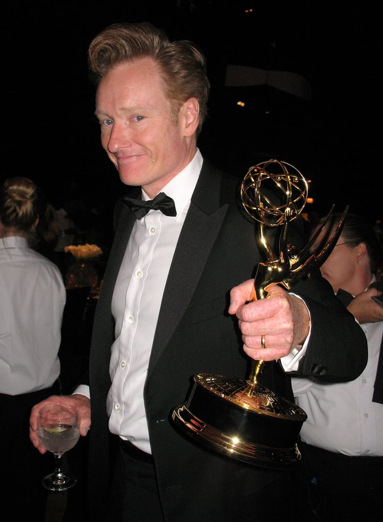 Conan O'Brien showed off his trophy in 2007.