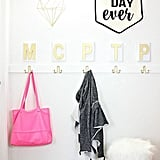 Install Monogram Letters Above Hooks in Mudrooms and Entryways
