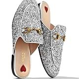 Gucci Princetown Glitter Slide Flat