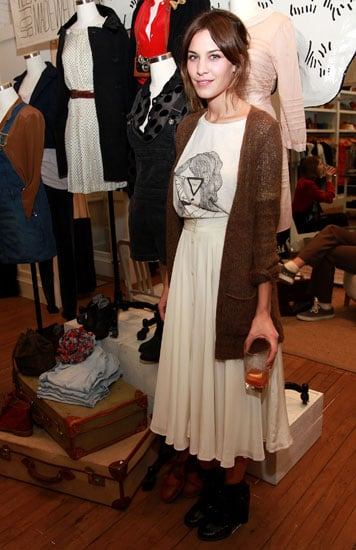 Showing off some vintage-inspired styling at the launch of her Madewell collaboration.