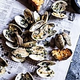 Grilled Clams With Jalapeño Basil Butter