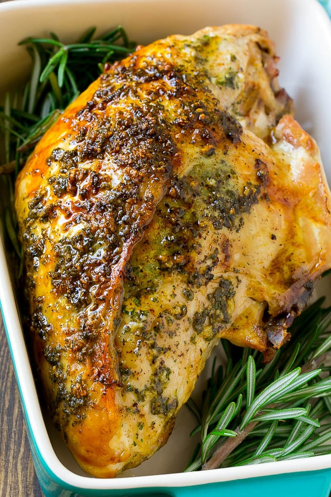Roasted Turkey With Garlic And Herbs Healthy Holiday